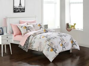 Image Is Loading All Sizes Paris Bedding Comforter Set Eiffel Tower
