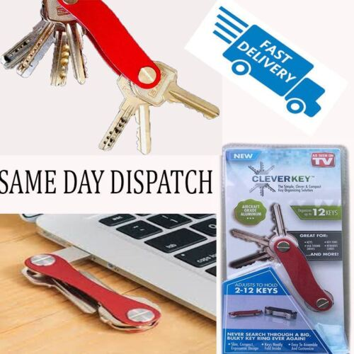 Each Clever Key Compact Key Organizer 12 Key Dual Black Red UK Seller*****