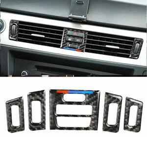 Fibra-di-Carbonio-per-BMW-E90-E92-E93-Sfiato-Presa-Orlo-5Pcs-Interno-Accessorio