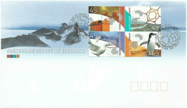 "2002 FDC AAT. Australian Antarctic Research. ""Globe"" Pict.PMK ""KINGSTON"""
