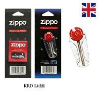 New Genuine ZIPPO Lighter Wick and Flints Packs Wicks Flint Lighter Accessories