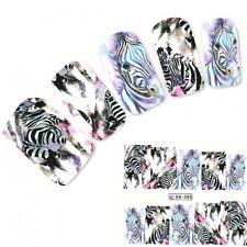 Tattoo Nail Art Zebra Afrika Wildnis Aufkleber Nagel Sticker