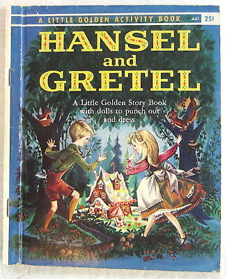 HANSEL and GRETEL Vintage Little Golden Activity Book First A Edition