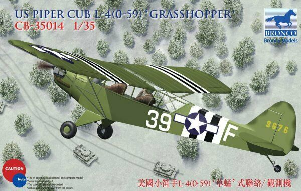 Bronco Models 1 35 Piper Cub L-4 (O-59) Grasshopper CB35014