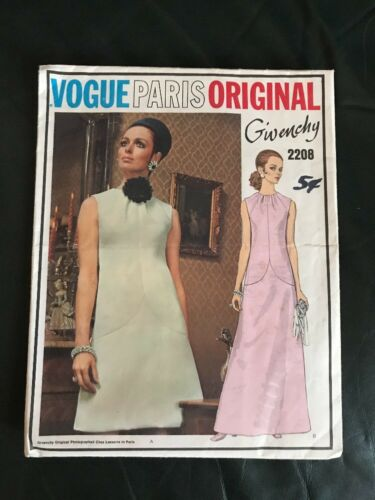 Vogue Paris Original Pattern 2208 Designed By Givenchy Size 12 Uncut
