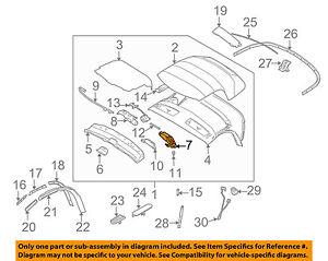 BMW OEM 03-08 Z4 Convertible Top-Lock 54347043873 | eBay