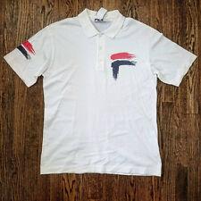Vintage 90s FILA White Polo Sport Classic Tennis Vtg Shirt Mens Size L