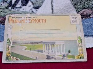 Smiths Vintage Late 1930's  Plymouth Ma Post Card Booklet Time Gone By