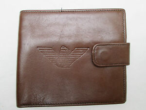 ... AUTHENTIQUE-portefeuille-porte-monnaie-GIORGIO-ARMANI-cuir-TBEG- e8667697ec2