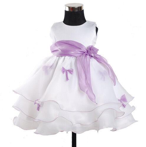 Neu Blumenmädchen Party Brautjungfer Hochzeit Schönheitswettbewerb Kleid in 6