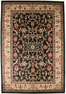 5x8 Area Rug New Persian Border Floral Kashan Beige Ebony