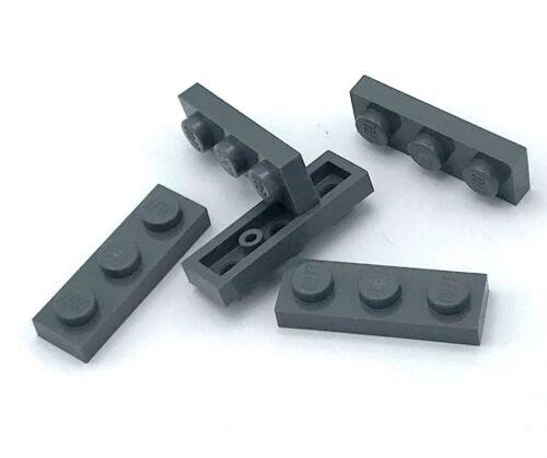Lego 5 New Dark Bluish Gray 1 x 3 Plate Pieces