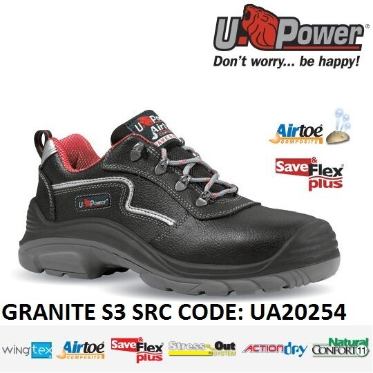 UPOWER zapatos LAVoro ANTINFORTUNISTICA GRANITE S3 SRC U-POWER UA20254