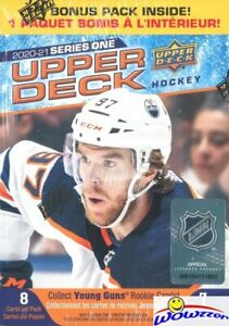 2020-21-Upper-Deck-Series-1-Hockey-HUGE-Factory-Sealed-Blaster-Box-YOUNG-GUN-RC