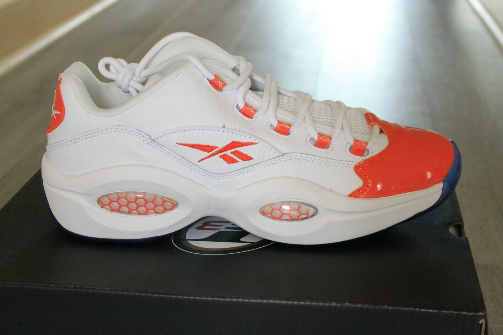 Reebok Question Low Allen Iverson Og Vivid Orange Blue White 3 Fx4999 Size 10 For Sale Online Ebay