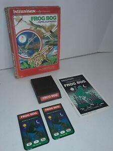Frog-Bog-1982-Intellivision-Video-Game-Cartridge-Complete