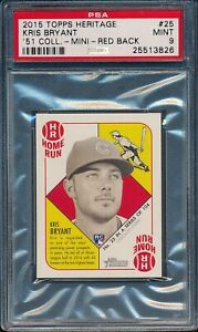 2015-Topps-Heritage-039-51-Collection-MINI-RED-BACK-Kris-Bryant-R-25-PSA-9-CUBS