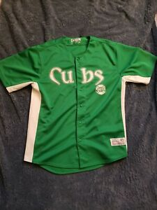Chicago-Cubs-Green-Jersey-MLB-Size-Large-42-44-Men-039-s