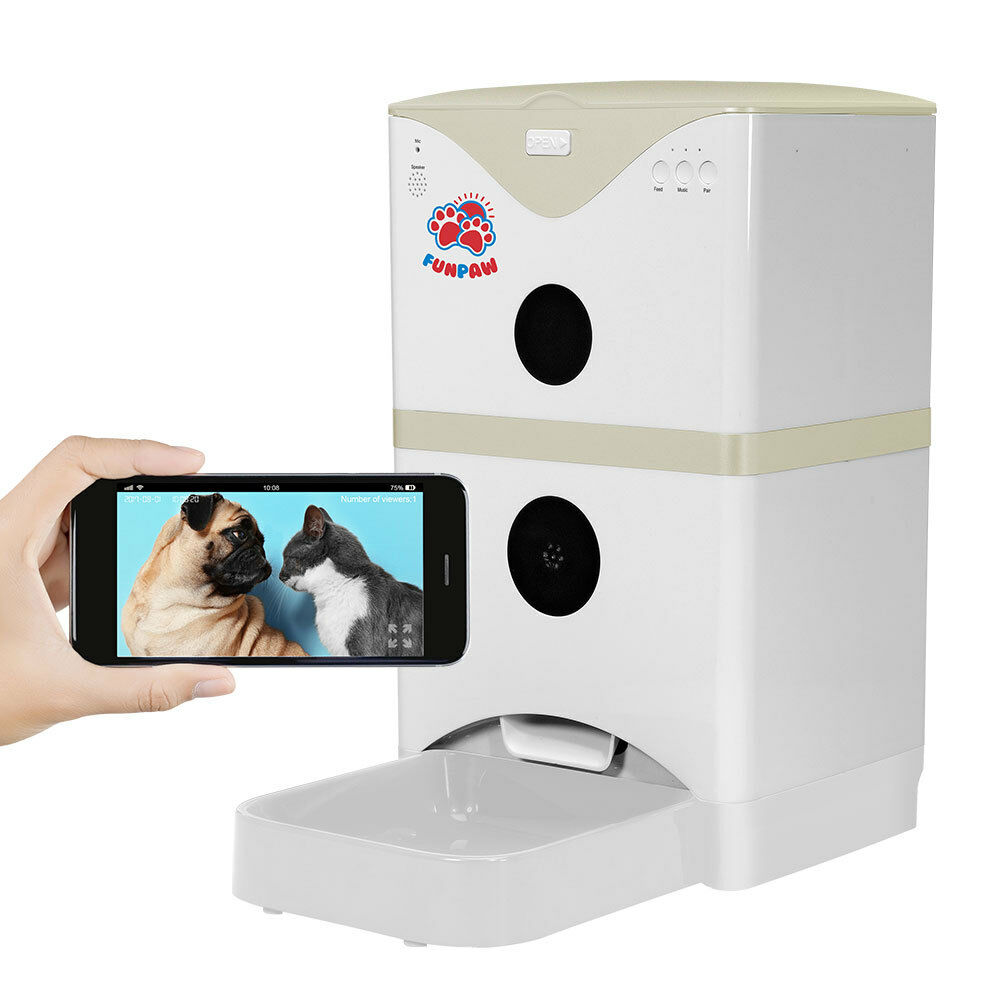 FunPaw 6L Automatic Pet Feeder for for for Cats Dogs  Scheduled Feeding, Monitoring 2- 22fc4d