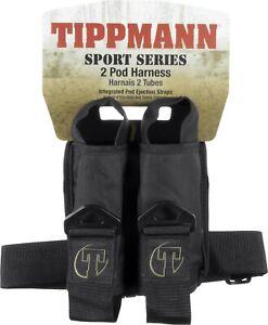 New-Tippmann-2-Pod-Sport-Paintball-Harness-Pack-Black