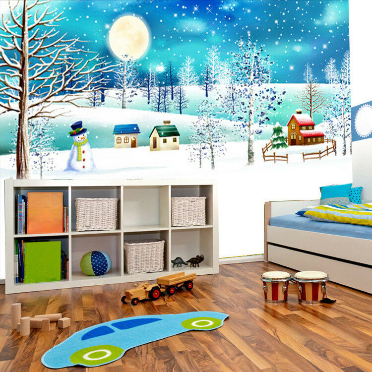 3D Sternenlicht Schneelandschaft 83 Tapete Wandgemälde Tapeten Bild Familie DE    Haltbar    Qualitativ Hochwertiges Produkt    Outlet Online