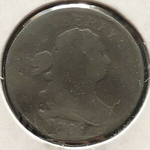 1808 Draped Bust Half Cent 1/2 Cent Circulated #1986
