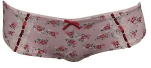 New-M-amp-S-Pink-Spotty-Floral-Lace-Trim-Brazillian-Knickers-Size-8-22