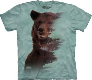 T Mountain Unisex Animals Shirt Forest Brown Adult Bear The ygYvfb76