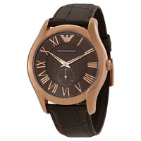 Emporio Armani Ea7 Classic Brown Dial Brown Leather Strap Men's Watch Ar1705