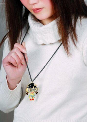 Collier Sautoir Femme Pendantif  Lunettes Petite Fille Super Mignonne Fun DDZ 2