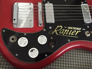replacement head stock sticker//transfer//decal Watkins Rapier Guitar