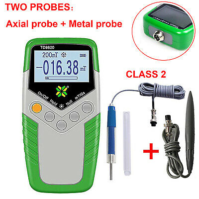 Digital Tesla Meter Gauss Meter with Axial Probe and Hall Probe Surface Magnetic Field Tester Gaussmeter mT//Gs 2/% Accuracy
