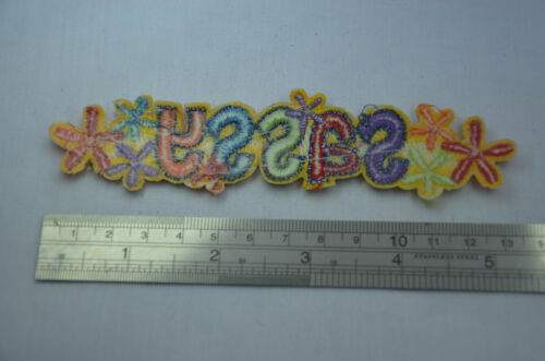 SASSY FLOWERS   12cm 5/'  Embroidered Iron Sew On Cloth Patch Badge  APPLIQUE