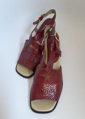 Leather Uk New 7 Ferragut Or Size Bordo Sandals Women Woven 40 nZ1xqRZ
