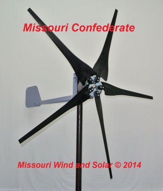AC output Missouri Confederate 500 watt 5 blade 12 volt home wind turbine