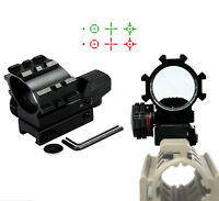 Red Green Dot Reflex Sight Tactical Holographic 4 Reticles Projected Scope Mount