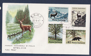Ea-Italie-enveloppe-parc-national-animaux-ours-cerf-1967