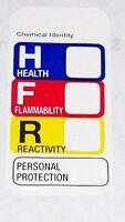 2500 1x2 Hmis Msds Right To Know Label Sticker