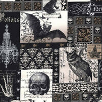 """MICHAEL MILLER """"NEVERMORE COLLAGE"""" Black by yard"""
