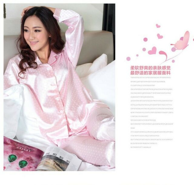 Pajamas Silk Long Sleeve Women's Clothing Sleepwear Lover Clothing New