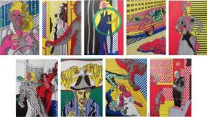 Henri-CUECO-la-mome-9-LITHOGRAPHIES-originales-1972-MOURLOT