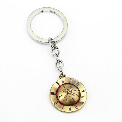 One Piece Portgas D Ace Hat Keychain Bag Car Key Ring Fan Student Cosplay Gift