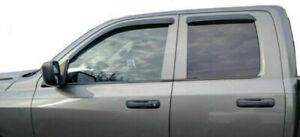For-2009-2018-Dodge-Ram-1500-Quad-Cab-Smoke-Window-Visors-Rain-Guards-Vent-Shade