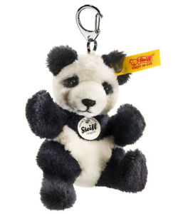 Steiff Panda Bear Keyring collectable soft toy keychain - 9cm - 112102