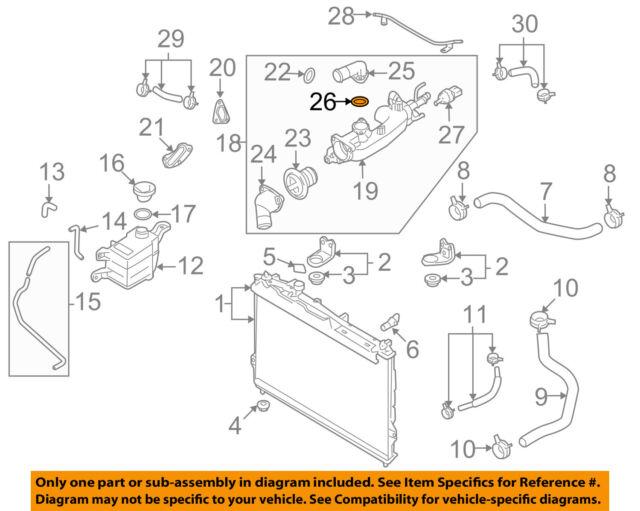 hyundai oem 07 11 azera engine water pump gasket 256123c101 ebay rh ebay com Engine Diagram with Labels 4 Cylinder Engine Diagram