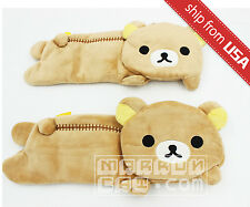 Rilakkuma Pencil Case Coin Purse Cosmetic bag soft Cute Kawaii plush Relax Bear