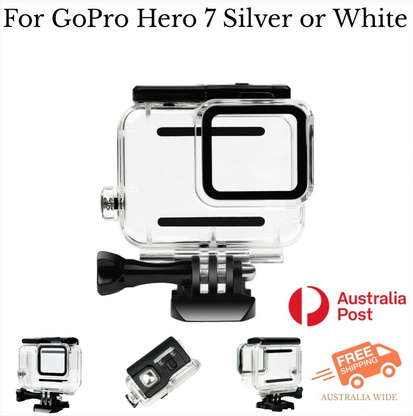 Waterproof Housing Case for GoPro Hero 7 Silver & White Tested to 45m AU Stock