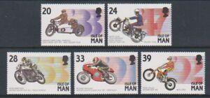 Isle-of-Man-1993-Motor-Cycling-Events-set-MNH-SG-567-71