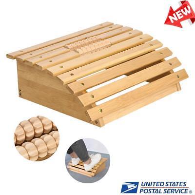 Health Ergonomic Wooden Massager Footrest Foot Stool Under Desk For Office Home 741870960727 Ebay