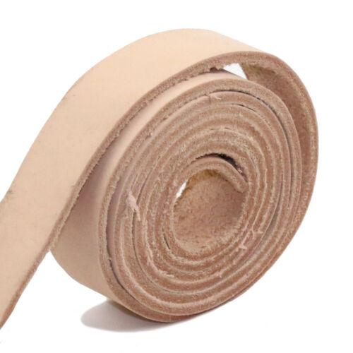 """LEMO Beige Natural Leather Hides Fur Pelts Blanks Belt 50/"""" X 1/"""""""